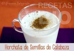 Horchata de Calabaza Receta vegana (sin huevo ni leche) y sin gluten