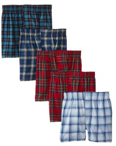 Hanes Big Boys' Boxer 5 Pack,Tartan, Large: Comfortable plush-lined waistband keeps its shape. Available in an assortment of plaids Boys Boxers, Boys Underwear, Discount Nikes, Big Boys, Plaid Scarf, Printed Shirts, Tartan, Pullover Sweaters, Pajama Pants