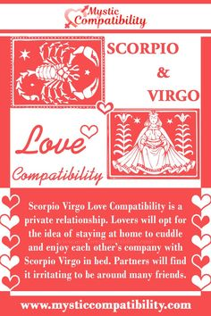 Scorpio Virgo Love Compatibility is a private relationship. Lovers will opt for the idea of staying at home to cuddle and enjoy each other's company with Scorpio Virgo in bed. Partners will find it irritating to be around many friends. #Scorpio #Virgo #Relationship #Compatibility #Scorpio_Virgo #Relationship_Compatibility #ScorpioVirgo #RelationshipCompatibility #Zodiac_Signs Virgo Scorpio Compatibility, Virgo And Scorpio, Virgo And Cancer, Virgo Men, Virgo Relationships, Relationship Compatibility, Zodiac Facts, Zodiac Signs, Fact Quotes