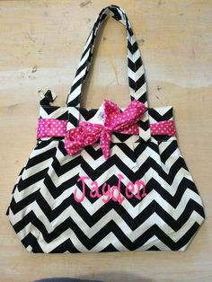 A personal favorite from my Etsy shop https://www.etsy.com/listing/225878305/stylish-chevron-bag-with-ribbon