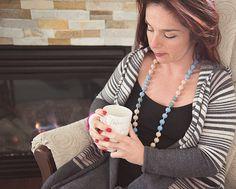 Silicone Teething Necklace Nursing Necklace Teething by BebePerla