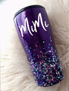 Arts And Crafts Michaels Glitter Projects, Glitter Crafts, Burlap Projects, Burlap Crafts, Glitter Cups, Purple Glitter, Glitter Tumblers, Glitter Glasses, Glitter Hair