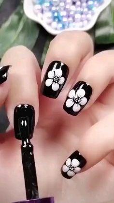 Nail Art Designs Videos, Nail Art Videos, Best Nail Art Designs, Acrylic Nail Designs, New Nail Art, Nail Art Diy, Cool Nail Art, Gel Nails, Acrylic Nails