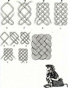 Плетение квадратных ковриков из шнура своими руками