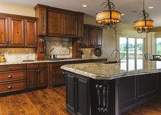 Exceptional Could Do A Wood Tone Island To Go With Black Cabinets. Reverse Of This Pic