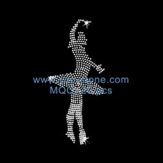 Rhinestone Motif Dancer For Girl Dresses