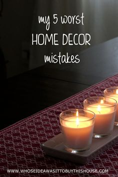 Wanna laugh at my embarrasing home decor mistakes? Come on over and learn what to do instead! :)