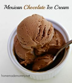 Homemade Mexican Chocolate Ice Cream