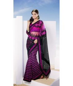 Marvelous look half and half saree