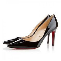 Christian Louboutin pump black No. Pointed Toe Pumps, Stiletto Heels, High Heels, Shoes Heels, Black Patent Leather Pumps, Black Pumps, Cheap Christian Louboutin, Manolo Blahnik, Fashion Shoes