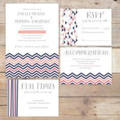 DIY Printable Wedding Invitation - Nautical/Chevron Collection by DesignsByDylcia on Etsy, $50.00  #SavetheDate #wedding #invitation #template #DIY #downloadable #download #digital #chevron