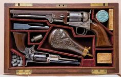 Colt Model 1851 Navy revolver and Model 1855 Pocket Sidehammer revolver