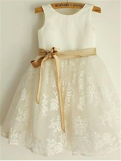 dd297022964 Aprildress Short Lace Flower Girl Dress with Gold Sash Baby Princess Party  Ball Gown ASD064 Toddler