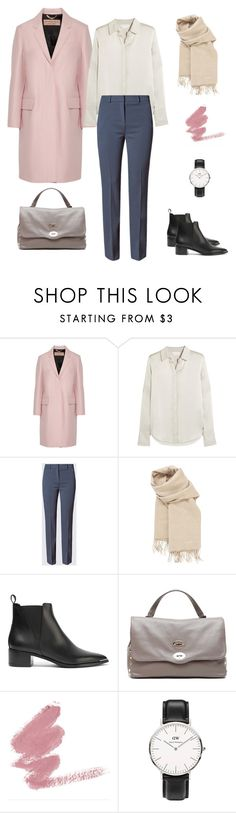 """pink coat styling"" by yuri-writer on Polyvore featuring Burberry, Chloé, Hermès, Acne Studios, Zanellato and Daniel Wellington"