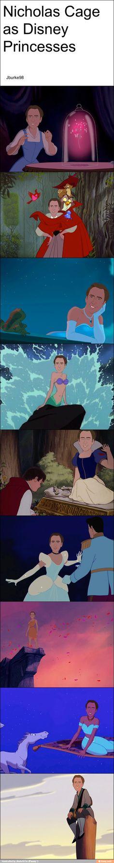 Nick cage Disney princesses / iFunny :)