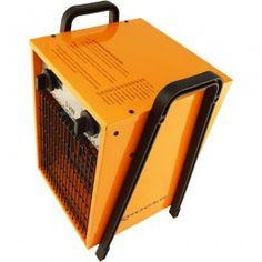 Calentadores de aire industriales electricos Krüger con alimentación monofásica (220 V) o trifásica (380 V). Calefactor para naves, granjas...