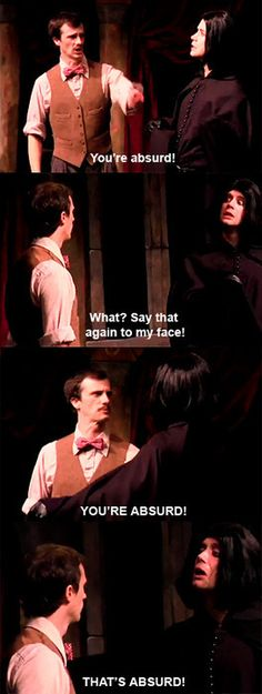 Possibly my all-time favorite Starkid exchange.