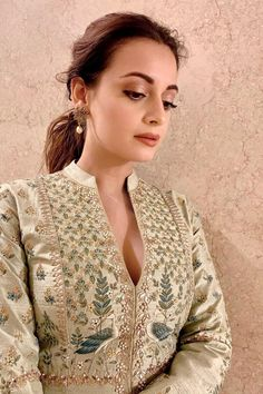 Shop from an exclusive range of luxurious wedding dresses & bridal wear by Anita Dongre. Bring home hand-embroidered wedding wear in colors inspired by nature. Anita Dongre, Dia Mirza, Indian Fashion Designers, Indian Wedding Outfits, Beautiful Girl Image, Bollywood Fashion, Bollywood Saree, Image Hd, Indian Dresses