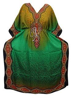 Maxi Dress Caftan Green Dashiki Print Boho Kaftan Cover U... https://www.amazon.com/dp/B01NAMXZ41/ref=cm_sw_r_pi_dp_x_GkBRybZH28RS3