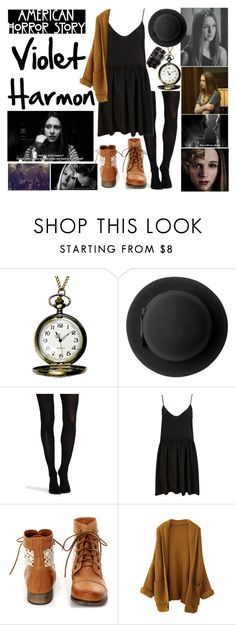 """""""Violet Harmon"""" by xxxmakeawish ❤ liked on Polyvore featuring Coven, Monki, SPANX, Steve Madden and H&M"""