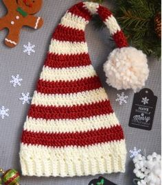 Crochet Elf Holiday Hat Pattern