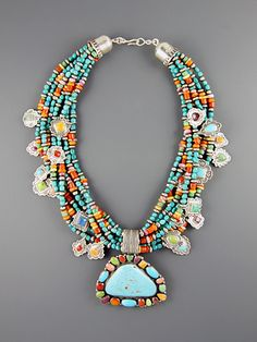 Turquoise Treasure Necklace via Don Lucas, Sante Fe