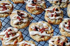 Bacon Cookies with Maple Syrup Glaze
