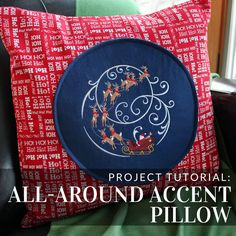 Whip up this pillow in no time with this tutorial from Embroidery Library.