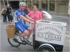 Ms Pepperdays ice cream bike hire for weddings and events in Fife, Edinburgh and Scotland