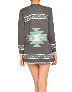Native Fringe Cardigan - 2020AVE love the gray and mint colors!