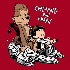 Calvin & Hobbs style Chewie & Han ^_^