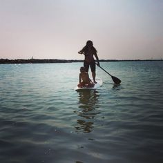 Stand Up Paddle con bimbo a bordo