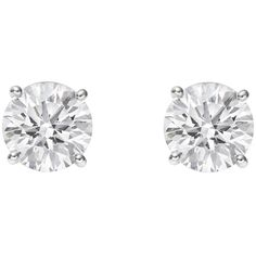 Betteridge Round Brilliant Diamond Stud Earrings (3.44 ct tw) ❤ liked on Polyvore featuring jewelry, earrings, accessories, ears, studs, diamond jewelry, betteridge, neon jewelry, earring jewelry and diamond jewellery