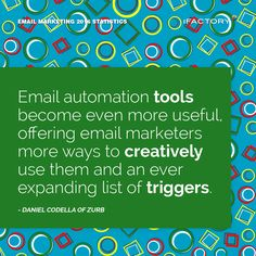 Email automation tools become even more useful, offering email marketers more ways to creatively use them and an ever expanding list of triggers #ifactory #ifactorydigital  #emailmarketing #digitalmarketing #digital #edm #marketing #statistics  #email #emails