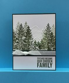 Lovely as a Tree winter mountains friendship card by jandjccc - Cards and Paper Crafts at Splitcoaststampers