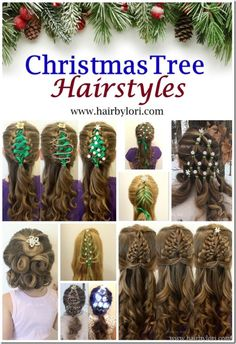 DIY 7 Christmas Tree Hairstyles from Hair by Lori. These are labeled as hairstyle for little girls, but since Lori brought up ugly Christmas sweaters at the beginning of her post… how great would these be paired with an ugly Christmas sweater - especially the one that lights up? Lori also wrote: Take your pick of what you are going for – cute, cool, tacky, beautiful, quirky… hey, it's the holidays! You can get away with it!