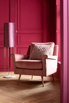 €699 | San Diego Rose fauteuil, unieke en trendy fauteuil uit de meubel collectie van Kare Design. De eigenzinnige meubels van dit unieke woonmerk zijn echte blikvangers en geven karakter aan uw interieur! Afmeting: (hxbxd) 85x80x85 cm. Go Pink, Kare Design, San Diego, Accent Chairs, Armchair, Lounge, Curtains, Furniture, Home Decor