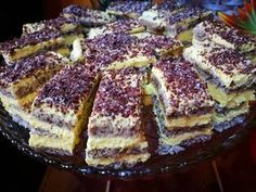 Poppy Cake, Hungarian Recipes, Looks Yummy, Tart Recipes, Cakes And More, Cake Cookies, French Toast, Food And Drink, Sweets