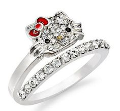 If you are looking for a best unique and cute Hello Kitty Wedding Ring for your lover then take a lo