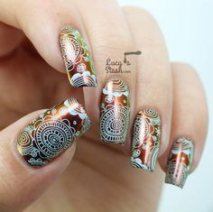 Multichrome Floral Stamping with Dance Legend  MoYou London