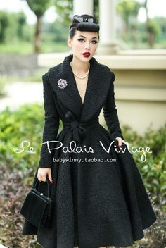 Le Palais Vintage elegant retro 100% wool Lapel waist skirt type woolen coat-in Wool & Blends from Apparel & Accessories on Aliexpress.com | Alibaba Group