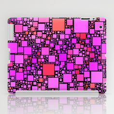 Post It Pink iPad Case - $60.00. Worldwide shipping available at Society6.com. #ipadcase #ipadcover #ipadmini #pink #squares #geometric #contemporary #pattern