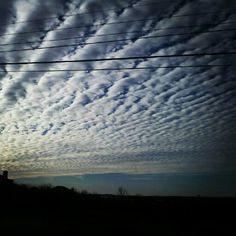 Sheep  clouds occur when the chilly weather is on its way