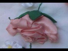 Flores de Cetim/ Rosa de Lado- Parte 2 Passo a Passo - YouTube