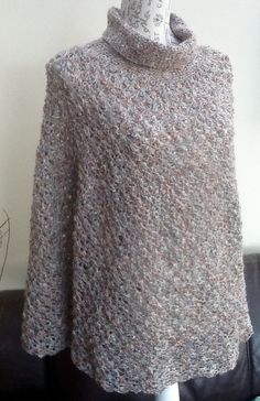 Monte Carlo Ladies Lacy Crocheted Polo Poncho in Designer Yarn! £45.00