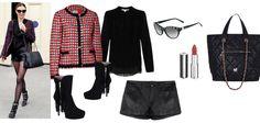 Copia el look: chaqueta de cuadros y shorts de cuero