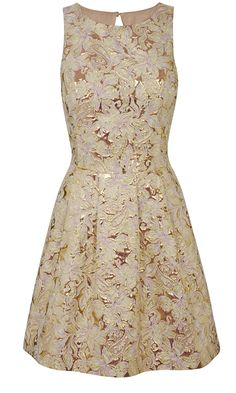 Miss Selfridge Pale Pink And Gold Dress | Mobile