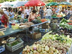 size: Photographic Print: Fruit and Vegetable Market, Split Poster by Christian Kober : Subjects Mouth Watering Food, Wine Country, Fruits And Vegetables, Farmers Market, Food Art, Pure Products, Marketing, Drawing Tutorials, Ethnic Recipes
