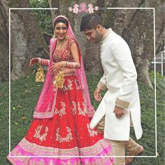 Beautiful bride Karuna Rupani wearing one of my personal favourites, bringing to life the divine red blend with utter ease!