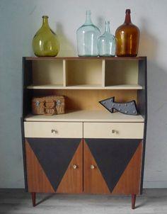 buffet vintage gaspard meubles en peinture pinterest tissu imprim couleur tendance. Black Bedroom Furniture Sets. Home Design Ideas